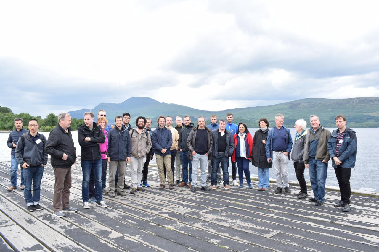 A photo of the participants on the trip to Luss
